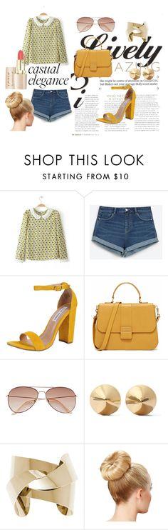 """yellow mood"" by marina-gomes on Polyvore featuring moda, Zara, Steve Madden, H&M e Eddie Borgo"