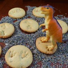 """Kitchen Overlord gives the dinosaur cookie a chic upgrade, thanks to the addition of crushed lavender and lemon zest. Stamp a plastic dinosaur's claw into each """"tracking medallion"""" before baking to create the footprints. Get the recipe.    - Delish.com"""
