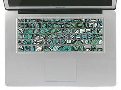 Grüne Muster Kunststoffspule Macbook Aufkleber, Tastatur Cover Decals, Macbook Pro/Air Keyboard Skin Aufkleber, Tastatur Aufkleber Aufkleber, Apple Vinyl Aufkleber on Etsy, CHF11.21