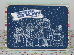 Silhouette Snowman Family Sketch Card using Amy Chomas Pen Holder in the Silhouette Cameo