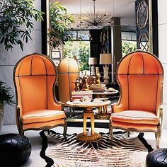 Gorgeous Orange Porter Chairs