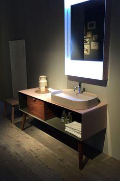 The new Dama furniture by Artelinea on display at Salone del Mobile. #salone2016 #salondelmobile #bathroomfurniture