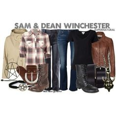 """Inspired by Jared Padalecki and Jensen Ackles as Sam and Dean Winchester on """"Supernatural"""""""
