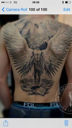 Dream angel tattoo
