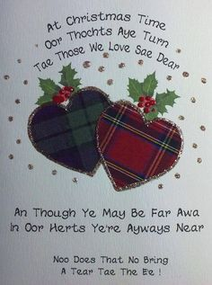 Probably should be Hogmanay . but nice Irish Christmas, Tartan Christmas, Christmas And New Year, Christmas Time, Christmas Crafts, Christmas Stuff, Christmas Ideas, Christmas Recipes, Scottish Quotes