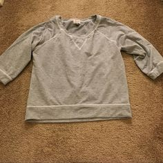 Three quarter length sweatshirt Very comfortable three quarter length sweatshirt. Great lounge wear 😊 Eyelash Couture Tops Sweatshirts & Hoodies