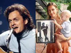 Jen Chapin holds son Van and photo of herself with dad Harry Chapin, pictured (r. Classic Rock And Roll, Carol Ann, Celebrity Deaths, Thanks For The Memories, Any Music, Progressive Rock, Guys And Girls, Looking Back, We The People