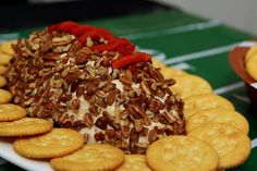 Super Bowl healthy party food ideas cheese ball football
