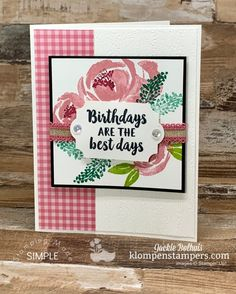 I love that we get to celebrate people on their birthdays. And what better way to celebrate than with birthday greeting cards you can make remarkably easy? Stamp along with me in this step by step video tutorial and make handmade birthday cards for all your friends! #birthdaycards #birthdaygreetings #greetingcards #handmadecards #cardmaking #diycards #klompenstampers #jackiebolhuis #stampinup