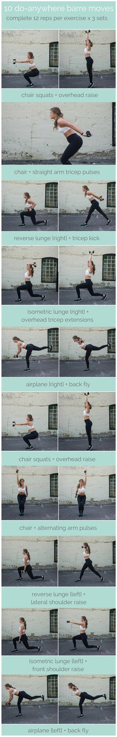 join the barre craze with this at-home, total body routine that will strengthen, lengthen, and tone. these 10 barre moves you can do without a barre are exactly what you'd see in my class at the studio.