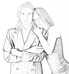 Urian and Phoebe (His hair is tied and she is very tall) Sherrilyn Kenyon Books, Chronicles Of Nick, Dark Hunter, Book Series, The Darkest, Graphic Art, Hunters, Novels, Sketches