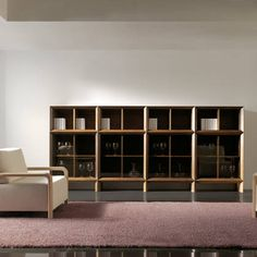 The Decada is an interchangeable, modular storage system made of walnut that can be configured to fit a variety of different needs or spaces. Modular Storage, Media Storage, Space Saving Storage, Office Interior Design, Office Interiors, Resource Furniture, Entertainment Furniture, Storage Solutions, Shelves