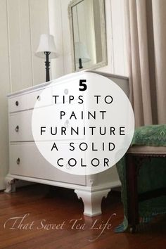 Learn My Top 5 Tips to Paint Furniture a Solid Color. #thatsweettealife #paintedfurniture #tipstopaintfurniture #paintingsolidfurniture White Painted Furniture, Painting Furniture Diy, Colorful Furniture, Furniture Makeover, Furniture Decor, Teal Painted Furniture, Painted Furniture For Sale, Paint Furniture, Solid Furniture