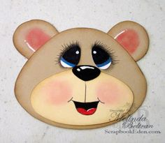 ** My Paper Crafting.com **: Creating bear Faces Tutorial