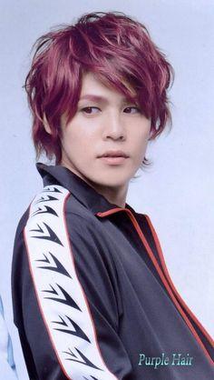 Miyano Mamoru (Free! - Matsuoka Rin) - purple hair