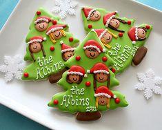 Christmas Family Tree Cookies