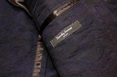 Denim camo, inside pocket and label