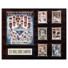 C and I Collectables MLB 20W x 16H in. Kansas City Royals 2015 World Series Champions Plaque - 1620WS15