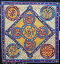Cosmati Revisited by Linda Schoenfeld.  2015 AZQG, photo by Quilt Inspiration