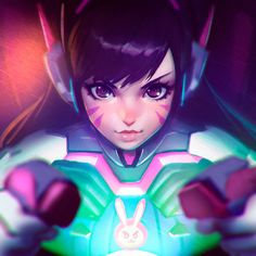 Overwatch - D.VA Artwork