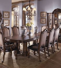 Artwork For Home Decoration Info: 9230987074 Dining Room Sets, Dining Room Furniture, Dining Room Table, Double Pedestal Dining Table, Marble Console Table, Vintage Interior Design, Vintage Interiors, Artwork For Home, Beautiful Dining Rooms