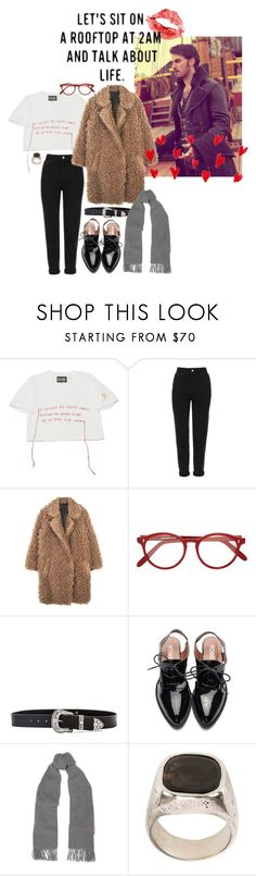 """Untitled #745"" by annagasztold ❤ liked on Polyvore featuring Topshop, Cutler and Gross, B-Low the Belt, Acne Studios, Prada and Tobias Wistisen"