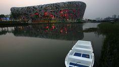 "The Beijing National Stadium known as the ""Bird's Nest"", Beijing, China, 2008. Architects: Herzog & de Meuron"
