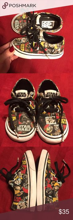 VANS Star Wars Era Classic Repeat Vintage Sz 6 VANS Star Wars Era CLASSIC REPEAT VINTAGE STYLE  Awesome, hard to find toddler shoe! Very good used Condition Some wear in heals and general Vans Shoes