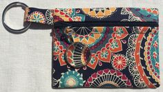 Colourful Mandalas - coin purse with zipper and zipper pull by SewfullyAwesome on Etsy