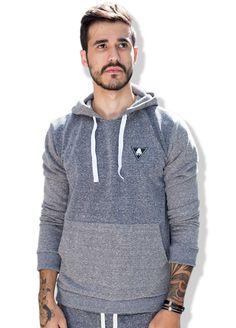 Moletom Masculino estilo Canguru Gray is Cool da QQY - Coleção masculina de  inverno 6229d691ecd