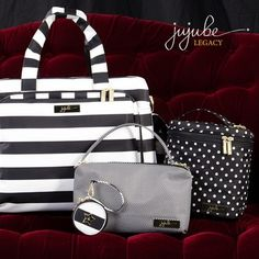 Ju-Ju-Be Legacy Collection Diaper Bags - These three prints are First Lady, The Dutchess, & Queen of the Nile.  Clicking the photo link will take you to babycubby.com and show you pricing and available colors and bags.  #legacydiaperbags #diaperbags