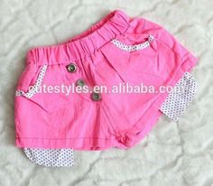 Cute Polka Dot Pocket Shorts Kids Casual Pants Girls Candy Shorts Children Wear Fashion Summer Pants PT40412-17
