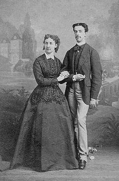 Prince Amedeo of Savoy with his first wife Maria Vittoria dal Pozzo, Princess della Cisterna.