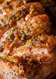 Pork Tenderloin Recipe Brown Sugar, Pork Loin Recipes Oven, Oven Roasted Pork Tenderloin, Pork Tenderloin Marinade, Slow Cooker Pork Tenderloin, Pork Marinade, Marinated Pork Tenderloins, Meat Recipes, Healthy Pork Tenderloin Recipes