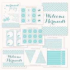 Mermaid Printable Party Collection