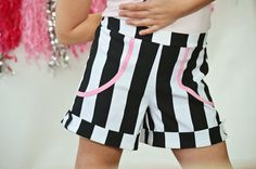 Girls vintage Sailor style shorts in black and by ISADORAKIDS