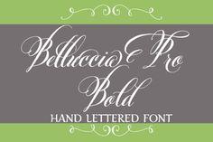 Check out Belluccia Pro Bold Font by DebiSementelli on Creative Market