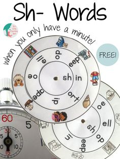 Download this free sh- words word wheel and get working on those digraphs!