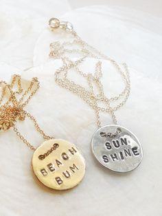 Mer Button Necklace $68