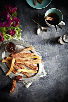 Gorgeous food styling & photography of Chocolate & Churros by @mowiekay. More pics to drool over :-)