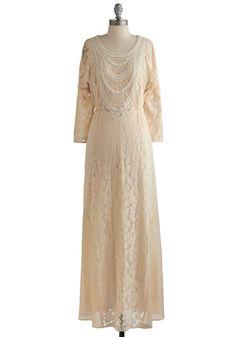 Ivory lace Downton Abbey style dress -  $142.99    #DowntonAbbey
