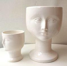 Ansiktsvaser Lisa Larsson via RY.AR.YA. ryarya anna rystedt Swedish Ceramics pottery Gustavsberg keramik swedish interior  Click on the image to see more!