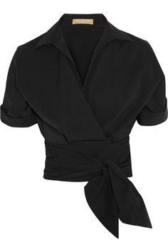 Michael Kors | Cotton-poplin wrap shirt | NET-A-PORTER.COM