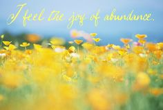 I feel the joy of abundance.