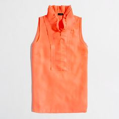 Loooove the collar! - Factory micropleated collar cami by J. Crew