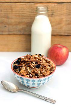 Apple Spice Granola (Gluten-free +  Vegan)