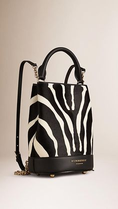 Natural The Small Bucket Backpack in Animal Print Calfskin - Image 4