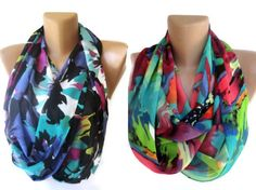 infinity scarves ,TWO , eternity loop circle scarf Summer fashion women accessories wholesale scarves via Etsy