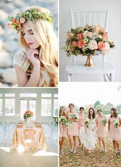 New wedding themes spring coral flower ideas Wedding Themes, Wedding Colors, Wedding Styles, Wedding Ideas, Coral Colour Palette, Colour Palettes, Peach Palette, Summer Wedding, Dream Wedding