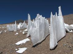 Penitentes in Atacama desert